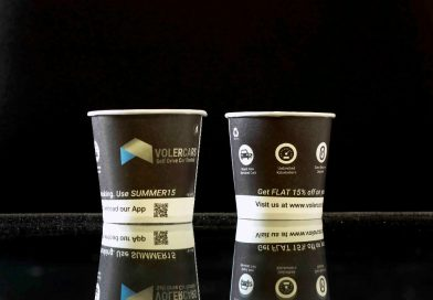 VolerCars Startup creative Paper Cup Ads Ideal Startup Marketing