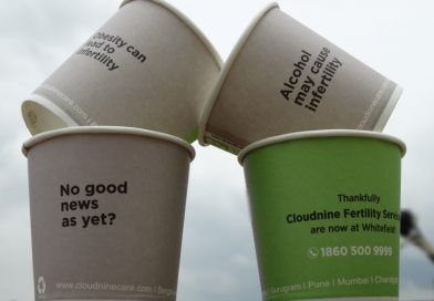 Paper Cup Advertising spreads Infertility Awareness