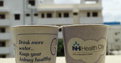 Creative Paper Cup Ads for Healthcare Marketing
