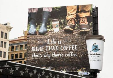 Billboard Advertising vs Coffee Cup Advertising