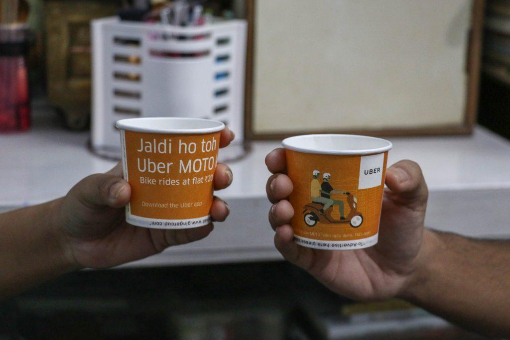 marketing on a tea cup